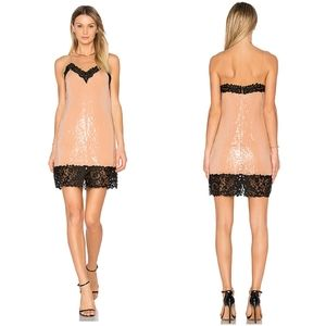 X by NBD Romi Mini in Nude Sequin NWOT